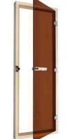 Дверь для сауны SAWO 700х1900 осина/бронза