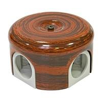 Распределительная коробка d78мм декор палисандр