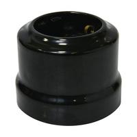 Розетка с заземляющим контактом цвет черный