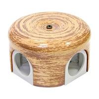 Распределительная коробка d78мм декор кедр
