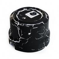 Розетка TV декор Чёрный камень