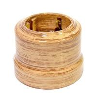 Розетка с заземляющим контактом декор кедр