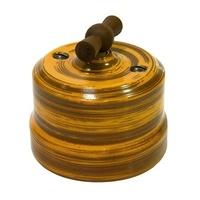 Выключатель одинарный проходной декор бамбук