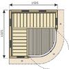 Harvia Rondium SG1515KL (1505 х 1505)мм