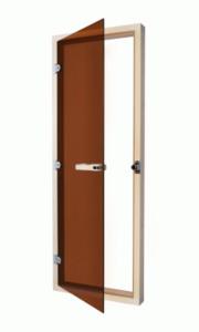 Дверь Sawo стеклянная в деревянной коробке